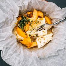 Feta with apricots
