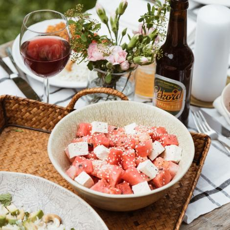 Watermelon Tofu Salad