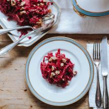 Fermented red cabbage with pears