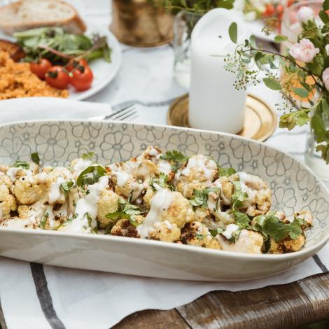 Roasted Tahini Cauliflower