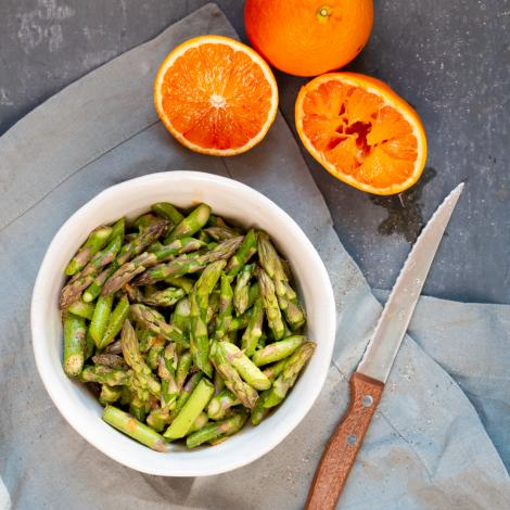 Raw Asparagus Salad with Orange Dressing